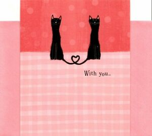 Love & Romance Black Cat Cats With You Is My Favorite Place Hallmark Card