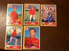 1987 Topps St. Louis Cardinals Autograph Lot of 5 Lawless Horton Mathews Conroy