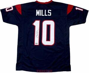Davis Mills Signed Autographed Houston Texans Custom Blue Jersey TRISTAR