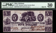 $5 1837 Kirtland Safety Society Bank Mormon Paper Money Rust 70 COUNTERSIGNED
