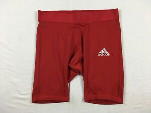 adidas Compression Shorts Men's Red Climacool NEW Multiple Sizes