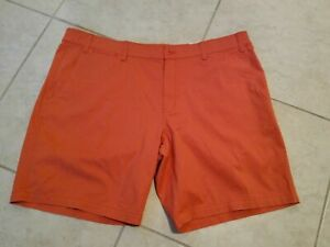 The Foundry Flex Flat Front Men's Shorts - Spiced Coral - MSRP $40.00 - 4 Sizes