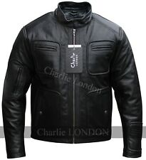 Kirk Motorcycle Star Trek Vintage Brown Leather Jacket Mens - Charlie LONDON
