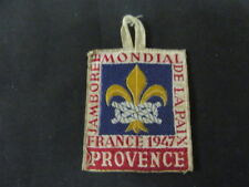 1947 World Jamboree Provence Woven Patch   c46