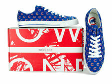Chicago Cubs Team Apparel Logo MLB Row One Men Women Kids Sneakers Low Top Shoe
