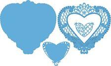 Marianne Design Anjas Filigraan Heart Craftable Die Blue LR0299