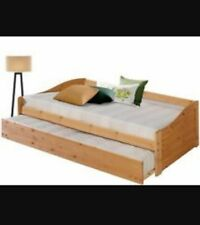 Bett Gästebett Tagesbett Doppelbett Ausziehbett 90x200 cm Kiefer massiv geölt