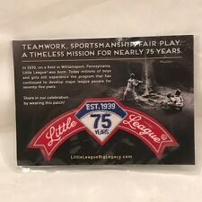 Little League 75 Year Anniversery Rocker Patch - Baseball - 1939 - New & Sealed