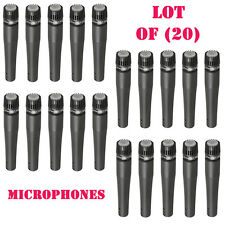 """Lot of (20) New Pyle PDMIC78 Moving Coil Dynamic Microphones W/ 15Ft XLR to 1/4"""""""