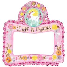 MAGICAL UNICORN INFLATABLE FOIL BALLOON FRAME PHOTO BOOTH SELFIE PROP AIR FILL