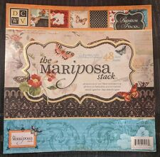DCWV Premium Stacks, Mariposa Matstack with Glitter and Foil, 48 Sheets, 12 x 1