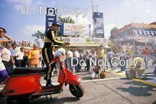 AYRTON Senna JPS Lotus F1 ritratto italiano GRAND PRIX 1985 Fotografia