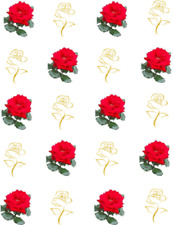 Lifelike Red Rose Waterslide /Water Transfer Nail Decals /Nail art