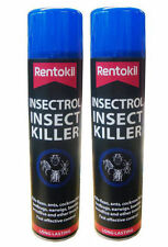 2 x Rentokil Insectrol Insect Killer Spray Kills Fleas, Ants, Bedbugs 250ml