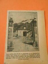 Entrée de la distillerie de Fourvoirie Pères Chartreux Print 1938