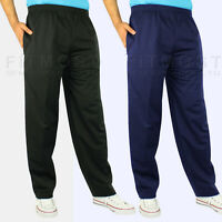 Mens Elasticated Silky Trousers Casual lightweight Joggers Jogging Track Bottoms