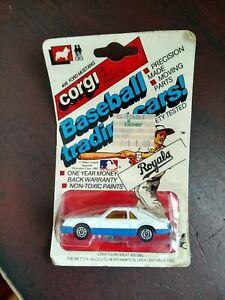 1982 CORGI #406 FORD MUSTANG KANSAS CITY ROYALS BASEBALL TRADING CAR