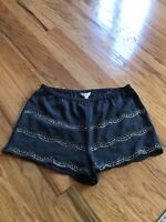 Candies Women's Junior's Gray & Silver Beaded Dressy Shorts Size Small-NWT