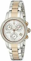 Bulova Women's 65R149 Masella Analog Display Chrono Swiss Quartz Two Tone Watch