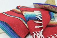 Mexican Serape Blanket Beach Yoga Sarape Throw Zarape New Rug Southwestern