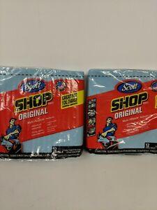 Scott Multi-purpose Shop Towels 2-12 Count 24 Towels Total  Flat Packs!!! READ