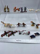 #9 Plastic Zoo Animals Birds Lot of 20 Owl Duck Goose Parrot Toucan Crane Toy