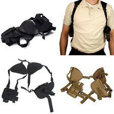 New Tactical Hand Gun Pistol Double Shoulder Holster Bag Airsoft Hunting Bag