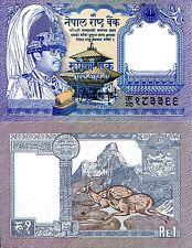 Nepal 1 rupee Banknote World Paper Money UNC Currency Pick p-37 Bill Musk Deer