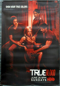 TRUE BLOOD 2011 AUTHENTIC 47X68 HBO TV SUBWAY POSTER ANNA PAQUIN