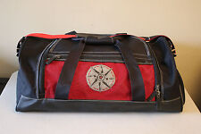 Large Black Duffel Bag w/ Red Accents and Removable Strap
