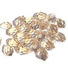 Czech Preciosa Crystal Teardrop Gold Tinted 24 Loose Beads