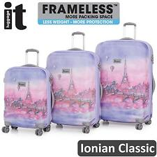 IT Luggage Paris Balloons 3 Trolley Suitcase Set Travel Cabin Bag Lightweight
