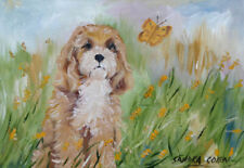 More details for cavapoo dog charming original oil painting sandra coen artist canvas dog lover