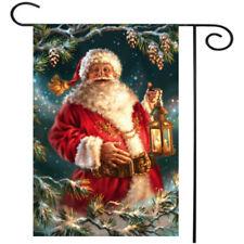"""Santa Christmas Garden Flag Holiday Santa Claus Holiday Yard Banner 12.5"""" x  !"""