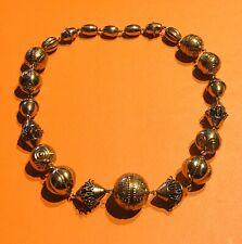 Kalevala Koru KK 1970's Bronze Etruscan Style Beads Necklace