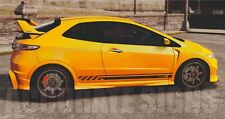 HONDA CIVIC TYPE R SIDE STRIPES (PAIR) CAR DECALS GRAPHICS