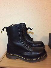 Docs Dr Martens DMs Black Leather 1919 Boots UK Size 6 Steel Toe 10 Hole Punk