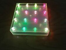 SQUARE LED LIGHT BASE WITH 16 COLOUR CHANGING LIGHTS CHRISTMAS TABLE CENTREPIECE