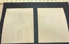 "Birch (White) wood veneer sample sheet 5"" x 7"" with phenolic laminate back 1/20"""