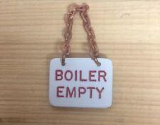 """3.5"""" Gauge Boiler Empty Sign Live Steam"""