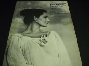CRYSTAL GAYLE the first line from the song TAKE IT EASY... 1981 PROMO POSTER AD