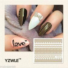 Decoración pegatinas color principal oro para uñas