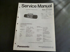 Original Service Manual  Panasonic RX-FT550