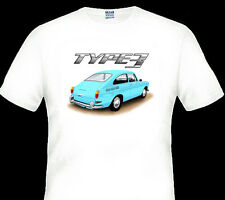 VW  TYPE 3  FASTBACK  COUPE   QUALITY WHITE TSHIRT   ( 6 CAR COLOURS)  BIG  FIT