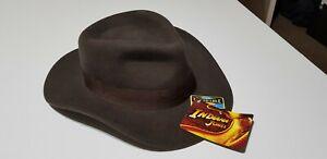 Indiana Jones Crushable Wool Fedora Size M Brand New Chocolate Dorfman Pacific