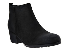 Rockport Total Motion Leather Distressed Ankle Boots Black Suede 8.5 Booties