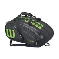 Wilson - WRZ845615 - Tour V 15-Pack Tennis Bag - Black/Lime