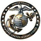 "Marine USMC Officer EGA Round Camouflage Magnet Insignia 4""x4"" SEMPER FI"