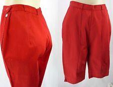 "Vtg 50s Paddle & Saddle Red High Waist Crop Pedal Pusher Capri Pants S 26"" Waist"