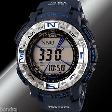 Casio Mens PRG-260-2CR Protrek Watch Tough Solar Compass Dark Blue Altimeter